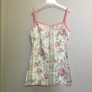 NWOT SYLVIE JOURDAN France floral slip chemise S